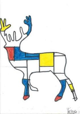 à la manière de Mondrian par Lenny D.