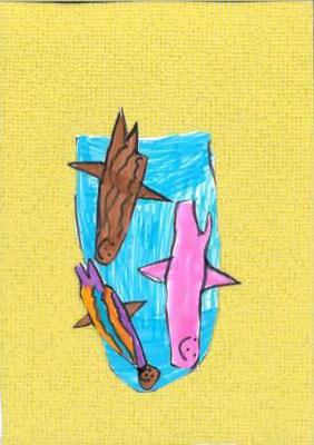poissons à la manière de Clémence G. par Maël