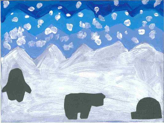 MS : paysage d'hiver par Léana