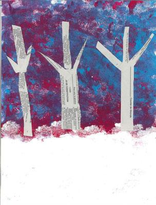 paysage d'hiver par Alix