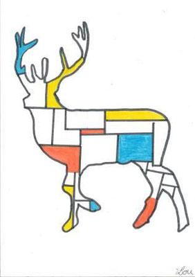 à la manière de Mondrian par Lou