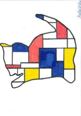 à la manière de Mondrian par Mathéo Db