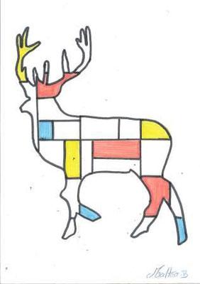 à la manière de Mondrian par Mattéo