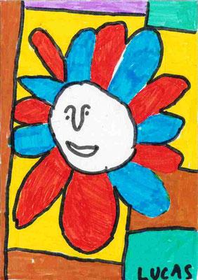 tête en fleur par Lucas