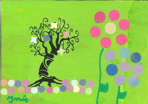 arbre de printemps par Inès