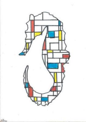 à la manière de Mondrian par Nathan