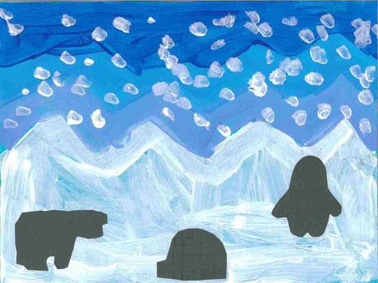 MS : paysage d'hiver par Maria