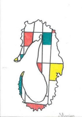 à la manière de Mondrian par Marius