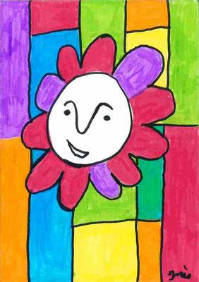 tête en fleur par Inès