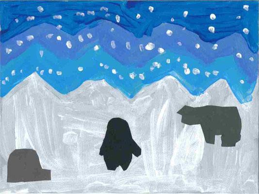 MS : paysage d'hiver par Elsa