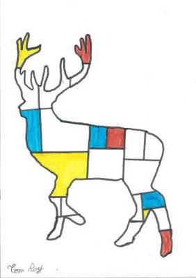 à la manière de Mondrian par Tom
