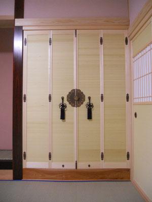 仏間折戸 襖戸