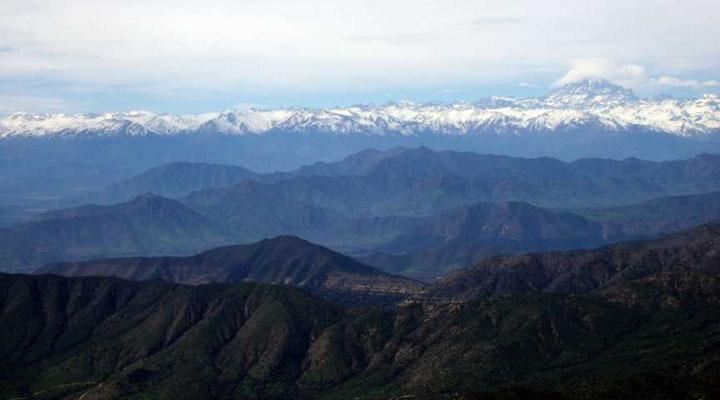 Blick auf Anden mit Aconcagua