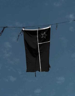 Chilenische Flagge in Schwarz