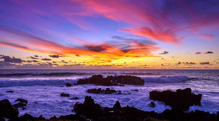 Sonnenuntergang bei Hanga Roa
