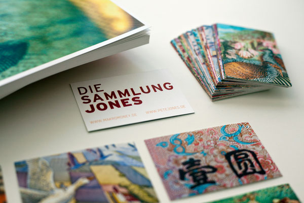 """Rückseite Visitenkarte """"DIE SAMMLUNG JONES"""""""