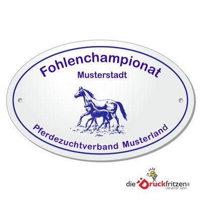 Stallplaketten - oval - 155 x 100 mm