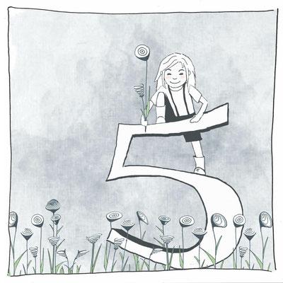 """Lotta """"Happy Birthday 5"""", Aquarell Kunstdruck © Britta Jessen"""