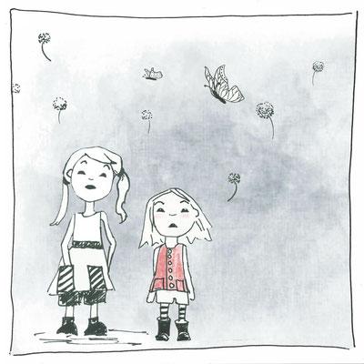 """Lotta """"Größe hat, wem das Kleine ganz nah ist, Aquarell Kunstdruck © Britta Jessen"""