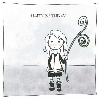 """Lotta """"Happy Birthday"""", Aquarell Kunstdruck © Britta Jessen"""