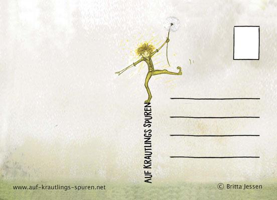 Wildkräuterkarte Kunstdruck Rückseite