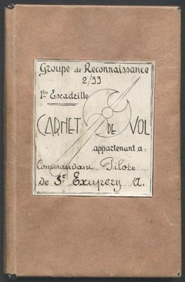 Couverture du carnet de Vol de Saint Exupéry