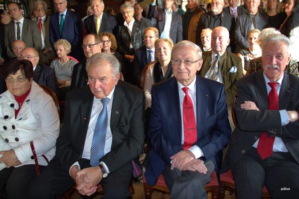 Frau Schwemmbauer - Rudolf Schwemmbauer, Altlandrat - Friedrich Hilterhaus, Unternehmer - Ingo Hayduk, Stadtrat Ansbach.
