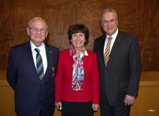 Friedrich Hilterhaus, Gertraude Hilterhaus, Joachim Herrmann, Innenminister von Bayern.
