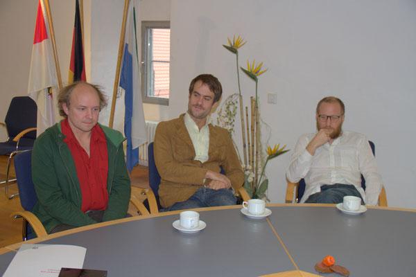 v.l. Ralf Wieland, Simon Schorndanner, Johannes Sens, Gankino Circus