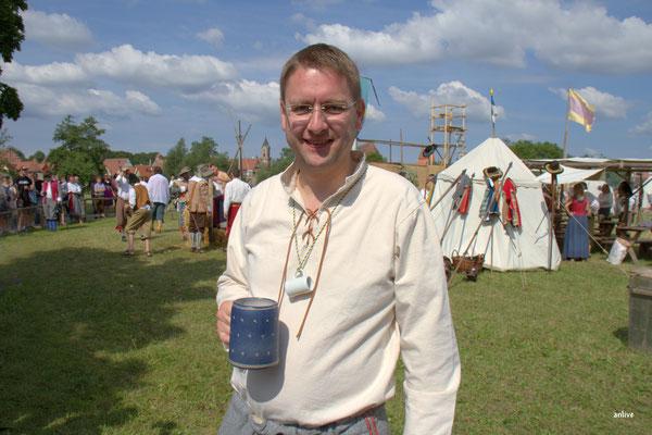 Dr. Jürgen Ludwig, Landrat, hier Landsknecht bei den Schweden.