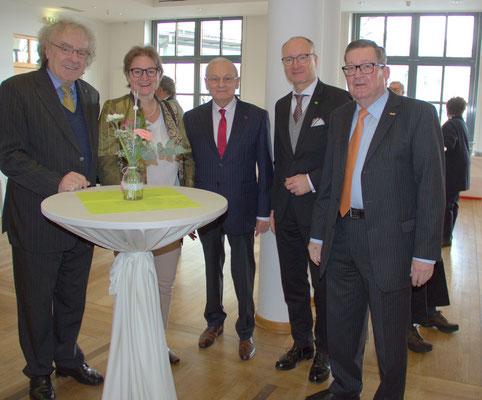 Hermann Schröter, Frau Nawratil, Friedrich Hilterhaus, Helmut Nawratil, Carl-Dieter Spranger