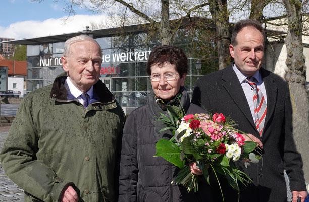 Friedrich, Gertraude und Axel Hilterhaus.