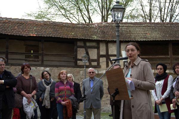 OB Carda Seidel, Ansbach, bei ihrem Grußwort