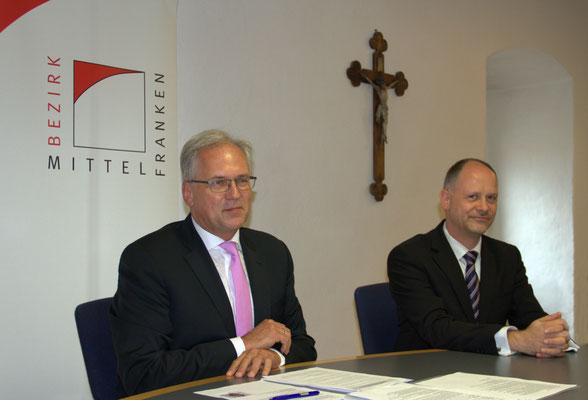 Richard Bartsch, Bezirkstagspräsident, Martin Lehmann, Chorleiter des Windsbacher Knabenchor