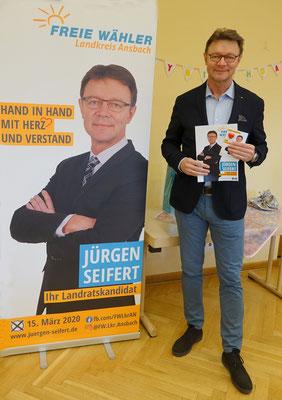 Der Landratskandidat, Jürgen Seifert.