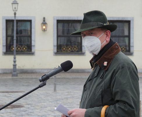 Thomas Deffner, Oberbürgermeister der Stadt Ansbach, bei der Begrüßung.