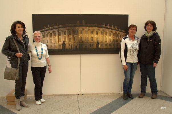 v.l. Angelika Besenbeck, Erika Luff, Karin Podßus, Erna Rühl, Aufnahme Ansbacher Schloss, von Wolfgang Liebel.