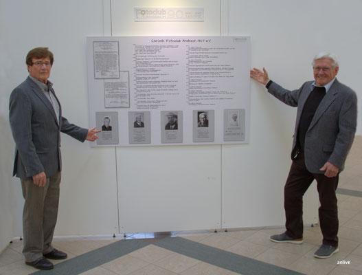 v.l. Willy Finsterer, Walter Röber.