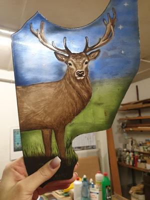 fertiges Teil - Hirsch (heiliges Tier der Artemis)