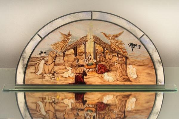 Individuell 1m Bleiverglast - Jesu Geburt Motiv