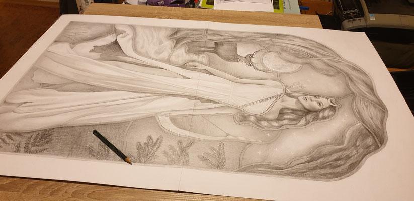 1:1 Zeichnung Bleiverglasung