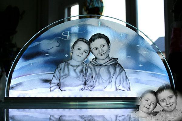 Portrait Glasmalerei