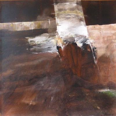 Excavations |  Tempera auf Holz | 60x60 cm | 2015