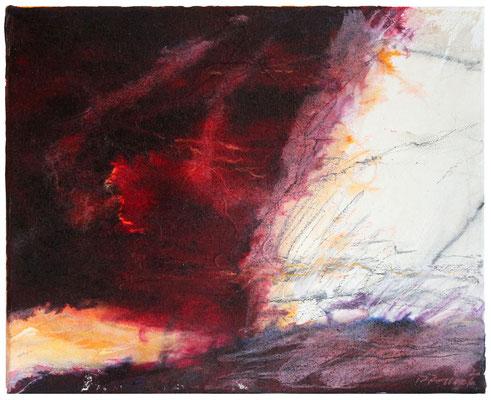 Inferno III | Tempera auf Leinwand | 30x25 cm | 2020