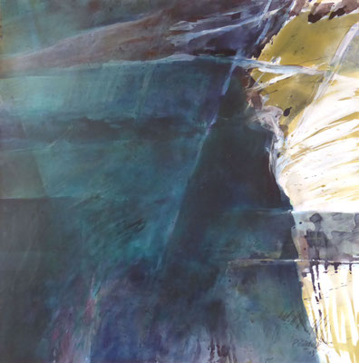 Erdmythos |  Tempera auf Holz | 60x60 cm | 2013
