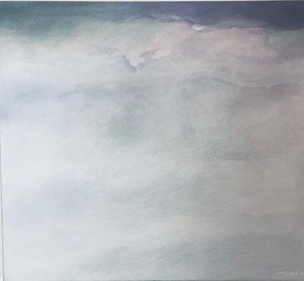Misty Morning | Tempera auf Leinwand | 90x80 cm | 2020