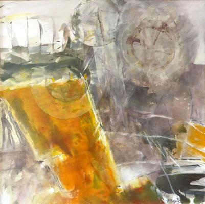 Sonnenrad |  Tempera auf Holz | 60x60 cm | 2012