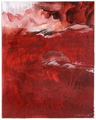 Red Earth II | Tempera auf Karton | 30x35 cm | 2018