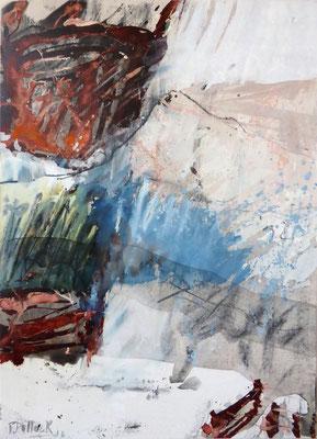 Erd_Innern V | Tempera auf Holz | 40x50 cm | 2012