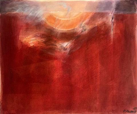 Sunset | Aquarell   | 36x30 cm | 2019
